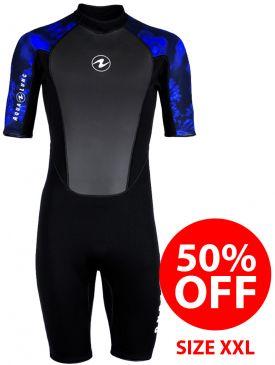 50% OFF - Aqua Lung Mahe Camo Mens Shorty 3mm Wetsuit - Size XXL