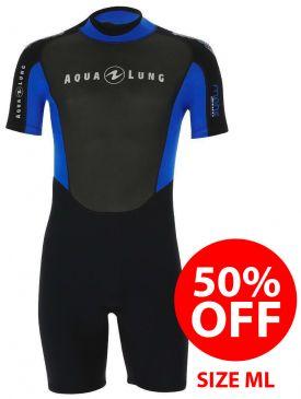 50% OFF - Aqua Lung Mahe Mens Shorty 3mm Wetsuit - Size ML