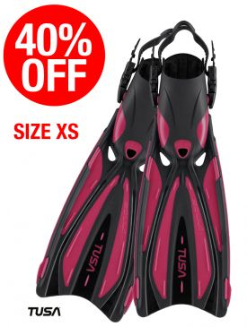 CLEARANCE - 40% OFF - TUSA Solla Strap Fin - Hot Pink