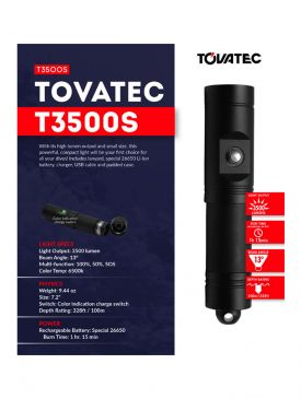 Tovatec T3500S - 3500 Lumen Spot Light