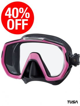 CLEARANCE - 40% OFF - TUSA Freedom Elite Mask - Black/Pink