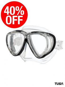 CLEARANCE - 40% OFF - TUSA Freedom Quad Mask - Black