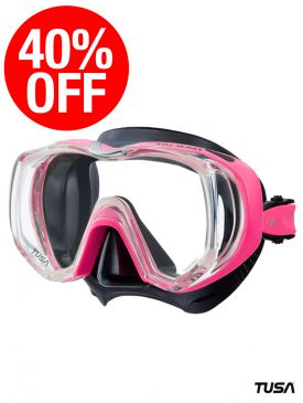 CLEARANCE - 40% OFF - TUSA Freedom Tri-Quest Mask - Black/HotPink