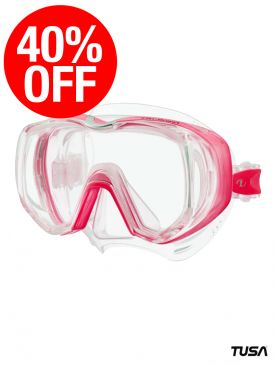 CLEARANCE - 40% OFF - TUSA Freedom Tri-Quest Mask - Bright Pink