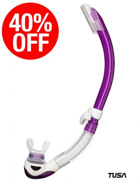 CLEARANCE - 40% OFF - TUSA Platina 2 Hyperdry Snorkel - Dragonfruit Purple