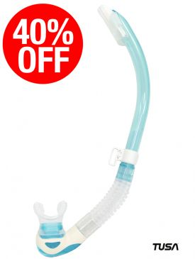 CLEARANCE - 40% OFF - TUSA Platina 2 Hyperdry Snorkel - Light Blue