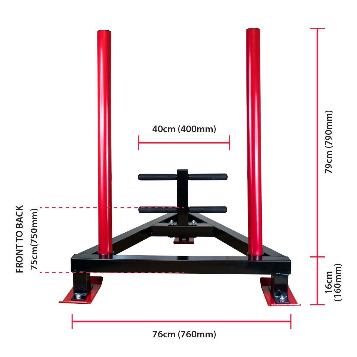 CoreX Fitness Weight Prowler Dimensions