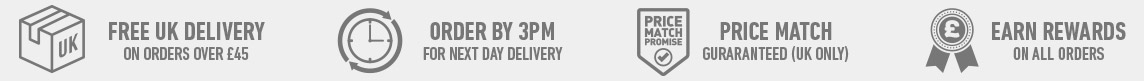 Free delivery over £45 - Order by 3pm for next day delivery - Price Match Guaranteed - Rewards